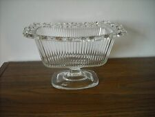 Vintage Mid Century Pedestal Clear Glass Decorative Candy Dish