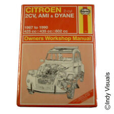 Citroen 2CV Haynes Workshop Manual OFFICIAL Retro Metal Fridge Magnet
