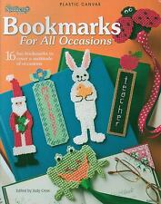 USED BOOKMARKS FOR ALL OCCASIONS SANTA BUNNY FROG PLASTIC CANVAS PATTERN BOOK