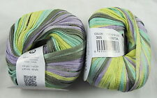 25% OFF! 50g Katia TAHITI BEACH Colorful Spring Summer Cotton Ribbon Yarn #305