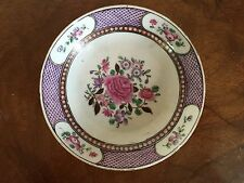 Antique Chinese Export Porcelain Saucer Dish Plate 18th 19th c. Famille Rose