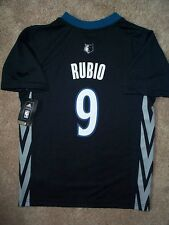 (2016-2017) Minnesota Timberwolves RICKY RUBIO nba ADIDAS Jersey YOUTH m-medium