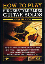 How to Play Fingerstyle Blues Guitar Solos Learn Jazz Beginner Tutor Music DVD