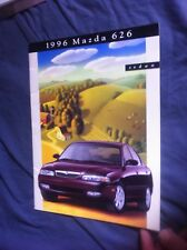 1996 Mazda 626 USA Market Color Brochure Catalog Prospekt