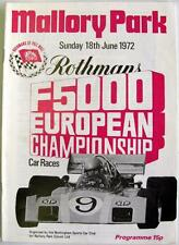 MALLORY PARK 18th Jun 1972 F5000 European Motor Racing Official Programme
