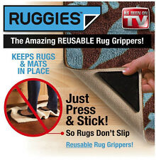 Reusable Ruggies Rug Carpet Grippers Triangle Pads 4Pcs/Set As Seen on TV