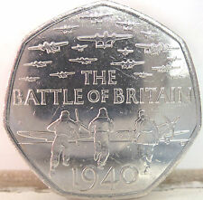 RARE 2015 50P COIN QUEEN ELIZABETH II 50P COIN THE BATTLE OF BRITAIN @@