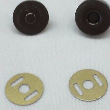 14mm BLACK ROUND Magnetic Snap for Bag Making x 50