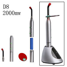 Dental Wireless Cordless Curing Light LED Lamp MAX 2000mw/cm2 Orthodontics+ D8