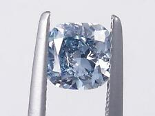 0.90 CARATS CUSHION CUT CERTIFIED LAB GROWN DIAMOND FANCY BLUE SI1