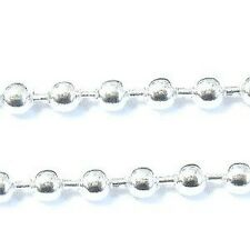 1 mètres silver tone ball chain - 3mm balle-A5435
