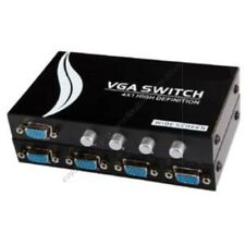 Lot5 4way/Port Manual ABCD Switch Box/Switchbox SVGA/VGA HD15 HPDB15pin$SHd