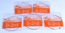 5x B 2nd ELECTRIC GUITAR STRINGS 011 gauge single individual six seven string