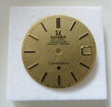Rare OMEGA 1970s AUTO Constellation Cal.561 SOLID 18ct GOLD Mens Watch Dial MINT