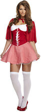 Sexy Red Riding Hood Womens Fancy Dress Costume Size 12 - 14 P8051
