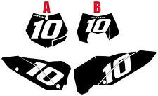 2008-2009-2010 KTM 200XC-W Custom Pre-Printed Black Backgrounds White Numbers