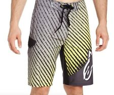 Alpinestars Racing Air Time Yellow BoardShort Surfing Short Mens Size Bottom 32