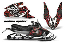 AMR Racing Sled Wrap Yamaha Apex Snowmobile Graphics Kit 06-10 WIDOW MAKER RED