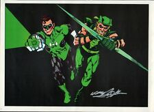 Vintage 1978 GREEN LANTERN & GREEN ARROW Pin Up PRINT HAND SIGNED Neal Adams COA