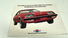 1975 CHEVROLET MONZA 2+2 Orig  Sales Brochure  USA