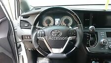 MIT Toyota CAMRY 2012-on black PIANO wood genuine leather steering wheel-SPORTS
