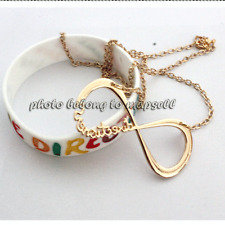 gold One Direction Necklace with white bracelet  Pendant Directioner Chain