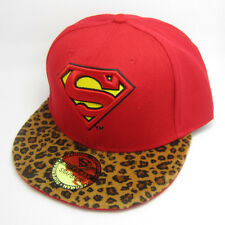 New Superman hiphop Snapback Adjustable baseball cap flat hat Leopard Red Gift