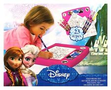 KIDS GIRLS DISNEY FROZEN 23 PC DRAWING BOARD SET COLOURING ACTIVITY DESK TOP