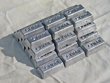 LEAD INGOTS Pure, 30 Lbs+ LYMAN Free Shipping Bullets Reloading Sinkers Weights