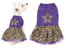 xxSmall Purple Leopard Print Spring Dog Dress Star Design Tule Skirt CLOSEOUT