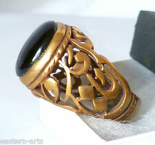 Islamic Calligraphy Art علی مع الحق Brass Men Ring UK T, EU 61, US 9.2/4 New N29