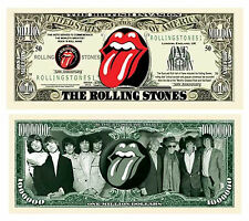 USA Rolling Stones 50th Anniversary 1 Million Dollar Comm. Banknote -UNC & CRISP