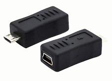 New USB 2.0 Mini A 5 Pin Female to Micro B Male Adapter Converter #239