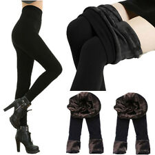 Fashion Women Black Fur Thick Thermal Fleece Lined Tights Winter Pencil Pants