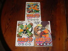Lot of 3 Naruto Manga--Original Japanease editions.