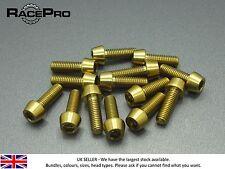 RacePro - 2x Titanium Tapered Bolt GR5 - M6 x 30mm x 1mm - Allen Head - Gold