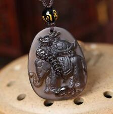 Natural ice kinds of obsidian pendant Lucky Turtle / elephant mascot amulet secu