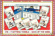 178 Clever Kittens - Cats embroidery transfer patterns Vintage