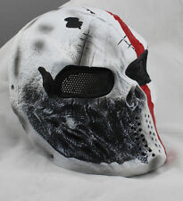 COOL Fiberglass Resin Mesh Eye Airsoft Paintball Full Face Protection Skull Mask