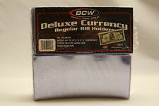 50 BCW REGULAR DELUXE CURRENCY SLEEVE BILL PAPER NOTE MONEY HOLDERS SEMI RIGID