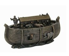 "10.5"" Noah's Ark Statue Sculpture Bible Animals Figurine Religious"
