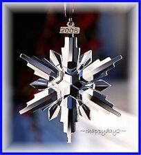 2006 Swarovski~Snowflake STAR Annual Christmas ORNAMENT~ NIB~ Large Triangle Box
