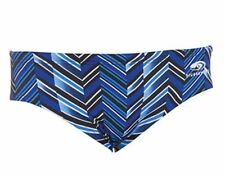 Blue Seventy Chevron Swimming briefs/ suit/ trunks/ speedo - Men's 28, Blue