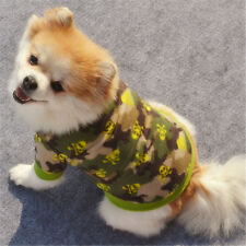 Pet Dog Skull Camouflage Pullover Fleece Warm Coat Cool Pet Clothes Green L