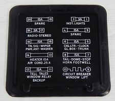 HOLDEN KINGSWOOD MONARO GTS HQ HJ HX HZ UNDER DASH FUSE BOX COVER LID