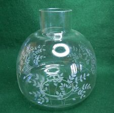"""SOFT ETCHED SHADE 7""""x 3-1/8"""" NICE SHAPE 6-3/4""""W for HURICANE OIL LAMP or SCONCE"""