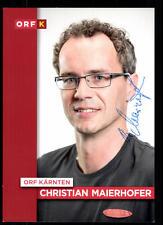Christian Maierhofer ORF Autogrammkarte Original Signiert ## BC 52423