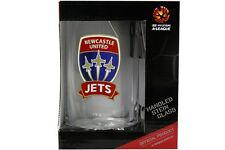 Licensed A-League Newcastle Jets Handled Beer Stein Glass 500ml