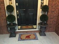 University of Alabama Crimson Tide w/Red Elephant & Houndstooth DoorMat