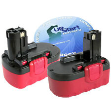 2x 18 Volt 18V 3.3Ah NiMh Battery for Bosch BAT025 BAT026 BAT160 BAT180 BAT189